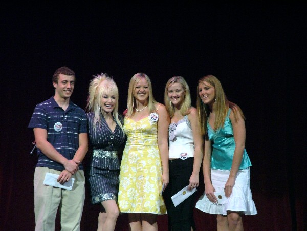 Dolly and dolly parton scholarship winners from left for What does dolly parton s husband do for a living